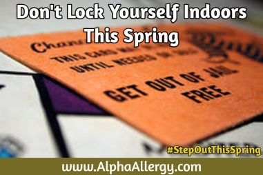 spring allergy get out of jail card