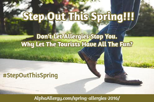Step Out This Spring Despite Allergies